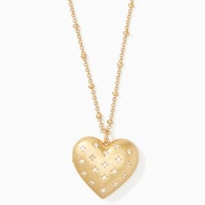 Kate Spade heart locket necklace